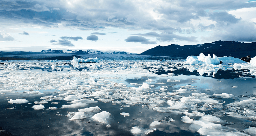 number of glaciers which is constantly decreasing due to global warming
